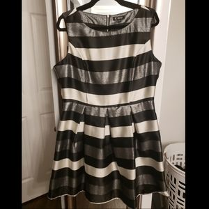 Striped Fit and Flair Dress